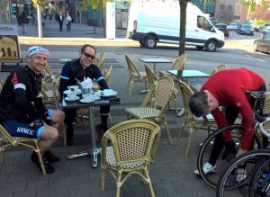 KRMCC riders at Cafe 1955