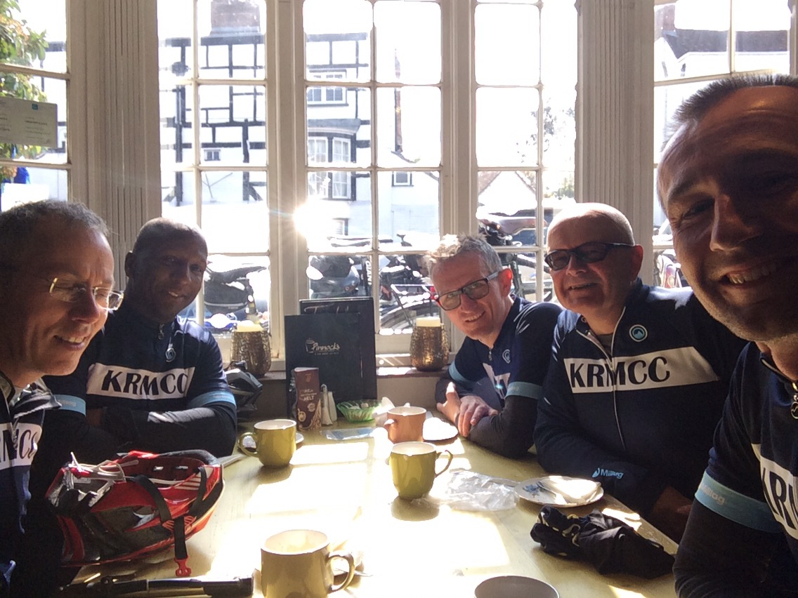 KRMCC Cyclists in Pinnocks Coffee House