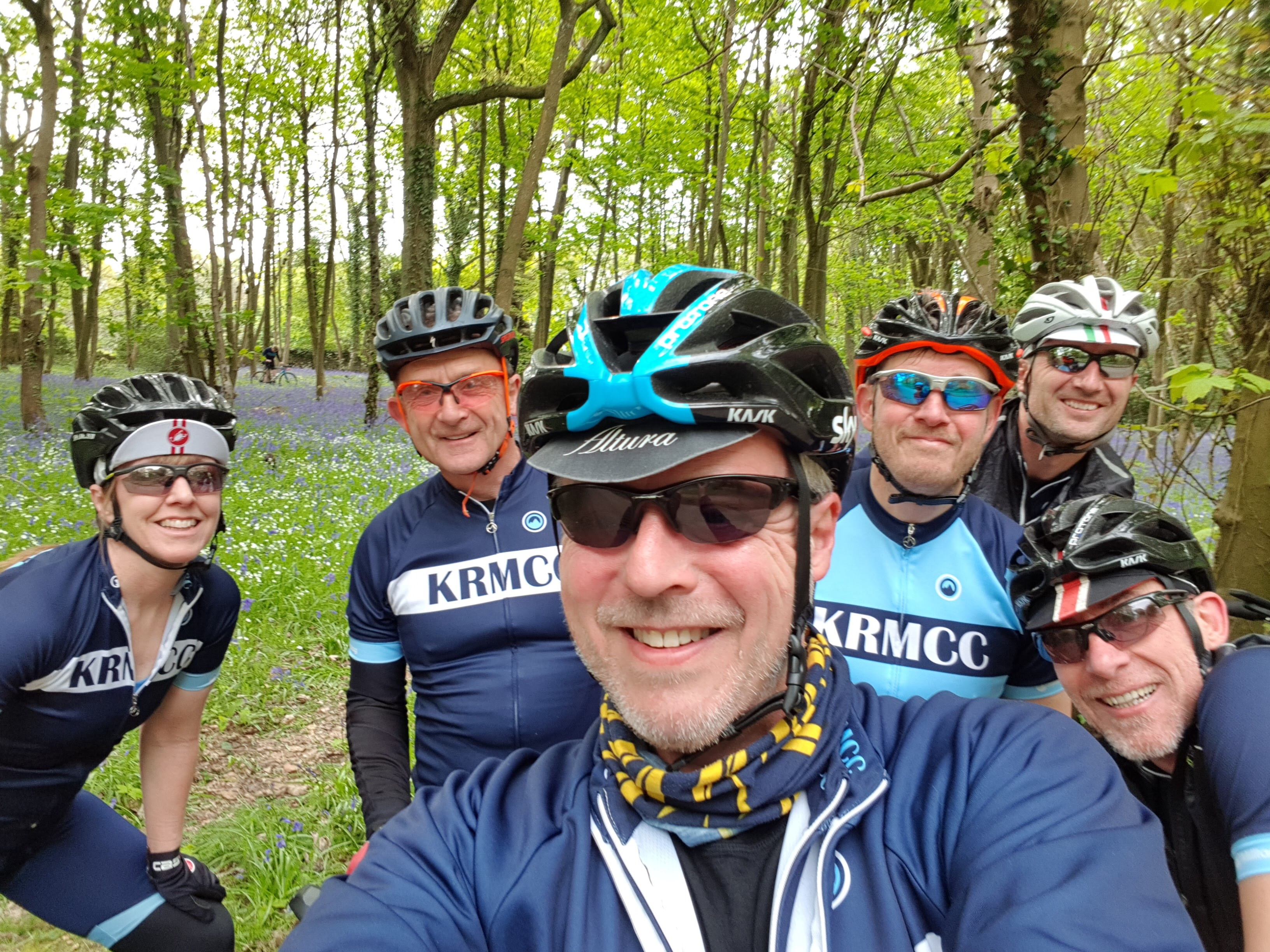 KRMCC riders on Ranmore Common