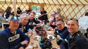 KRMCC riders at the Dabbling Duck Cafe
